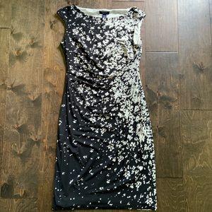 Chaps Black and White Sheath Dress